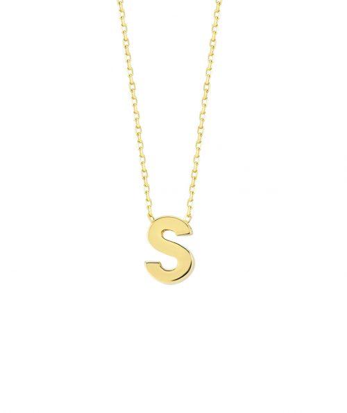 s harfi altın kolye